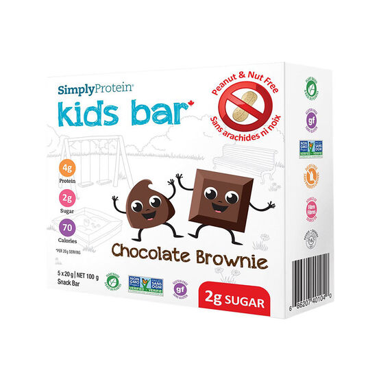 SimplyProtein Kids Bar - Chocolate Brownie - 5 x 20g