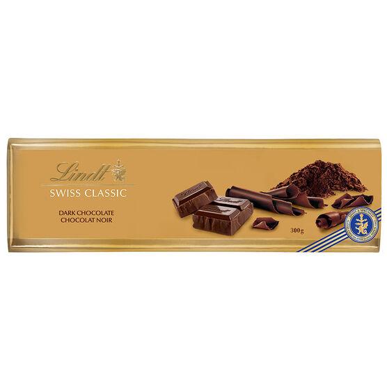 Lindt Gold Chocolate Bar - Dark - 300g