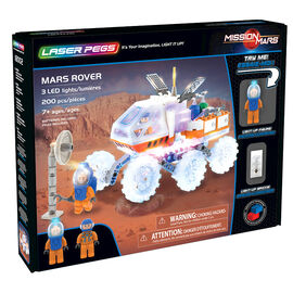 Laser Pegs Building Blocks Playset - Mission Mars Collection - Mars Rover