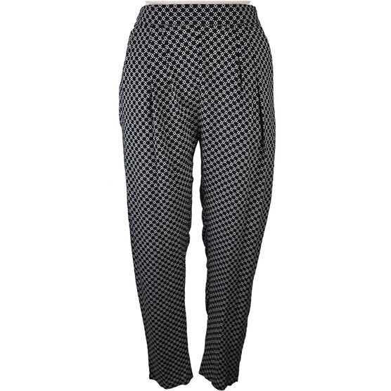 Lava Mini Diamond Print Pants - Black