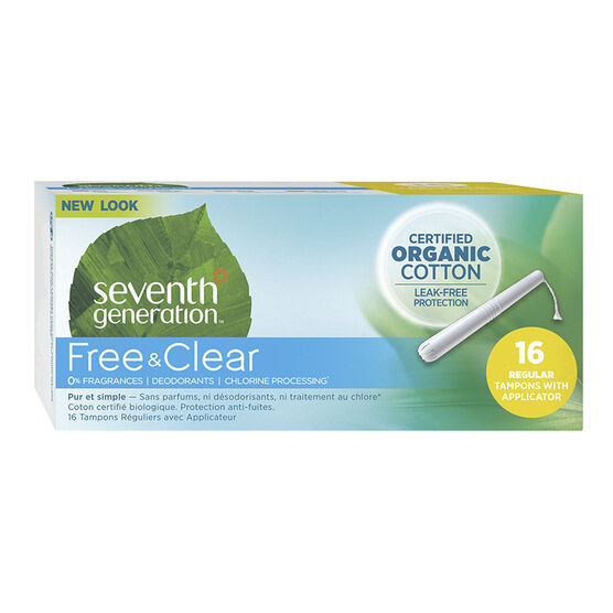 Seventh Generation Free & Clear Tampons - Regular - 16's