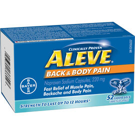 Aleve Back & Body Liquid Gels - 220mg - 52's