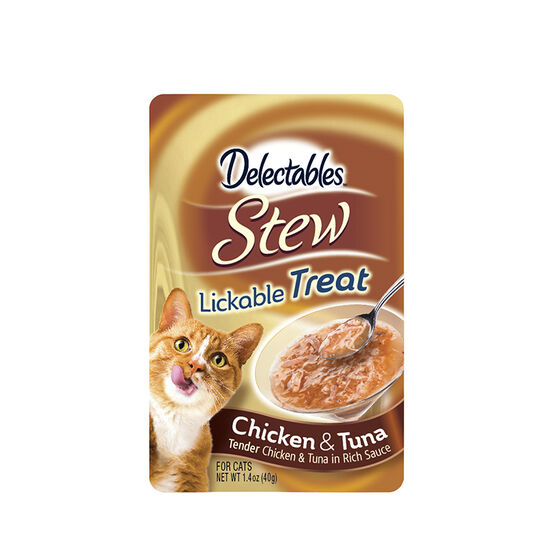 Delectables Stew Lickable Treat - Chicken and Tuna - 40g
