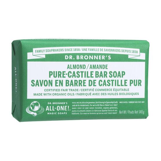Dr. Bronner's Pure-Castile Bar Soap - Almond - 140g