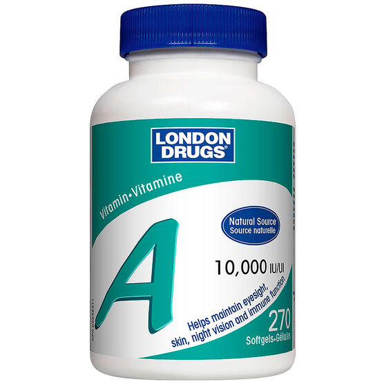 London Drugs Vitamin A - 10,000IU - 270's