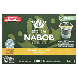 Nabob Breakfast Blend Coffee - Medium Roast - 12 pack