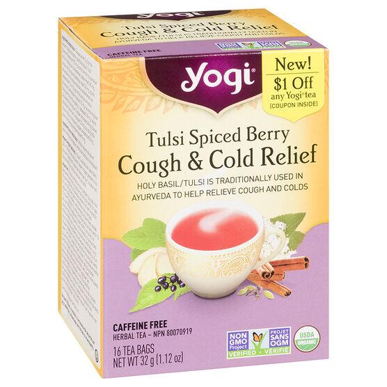 Yogi Tea Tulsi Spiced Berry Cough & Cold Relief - 16's