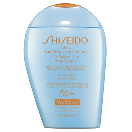 Shiseido Ultra Sun Protection Lotion SPF 50+ WetForce for Sensitive Skin and Children - 100ml