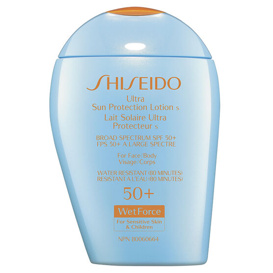 Shiseido Ultra Sun Protection Lotion SPF 50+ WetForce for Sensitive Skin and Children - 100ml