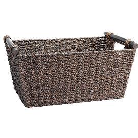 London Drugs Seagrass Basket - Dark Brown - Medium