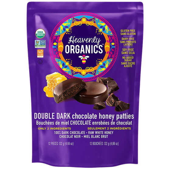 Heavenly Organics Chocolate Honey Patties - Double Dark - 132g