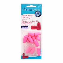 PharmaSystems U Hear Tapered Ear Plugs - 12's - Pink