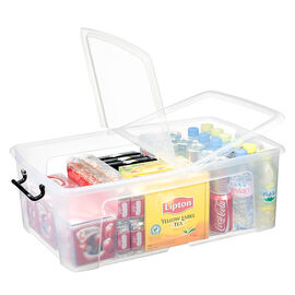 Strata Smart Storemaster Box with Side Opening and Clip Handles - 50L