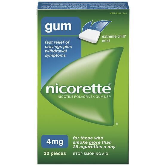 Nicorette Gum - Extreme Chill Mint - 4mg - 30's