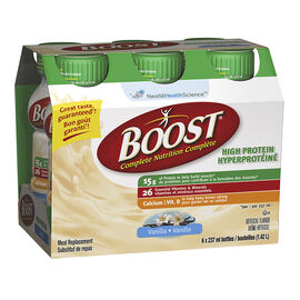 Boost High Protein Meal Replacement - Vanilla - 6 x 237ml