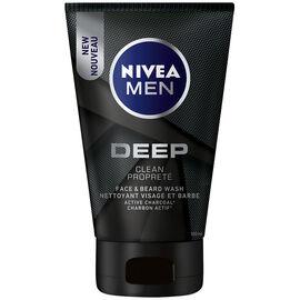 Nivea Men Deep Face & Beard Wash - Clean - 100ml