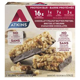 Atkins Protein Bar - Chocolaty Peanut Butter Pretzel - 5 x 48g