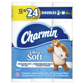 Charmin Bathroom Tissue Ultra Soft - 12's/ Double Roll