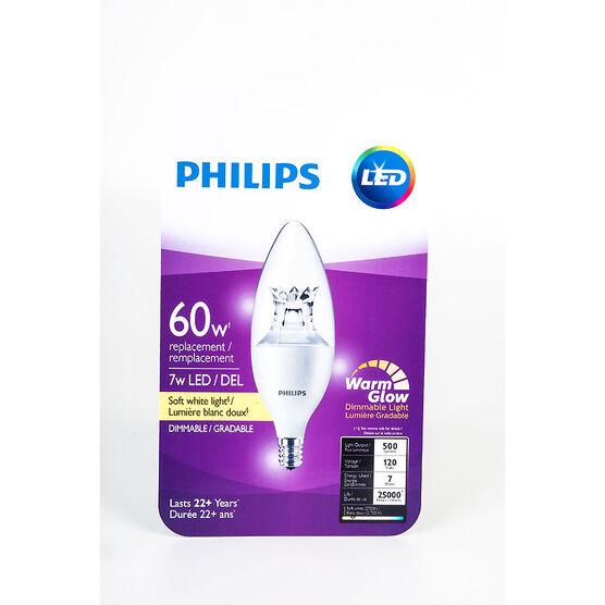 Philips Chandelier Small Base B13 LED Bulb - Soft White - 60W