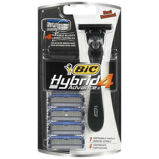 Bic Hybrid Advance Men's Shavers - 4's