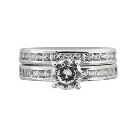 Puccini Large Centre Round Double Band Ring - Size 7