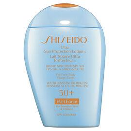Shiseido Ultimate Sun Protection Lotion WetForce for Sensitive Skin and Children - SPF 50+ - 100ml