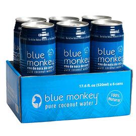 Blue Monkey Coconut Water - 6 x 520ml
