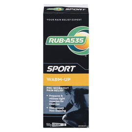 RUB A535 Sport Warm-Up Pre-Workout Pain Relief Cream - 100g