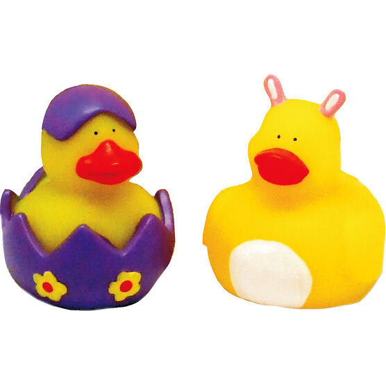 Easter Light-up Rubber Duck - 2.5in - Assorted