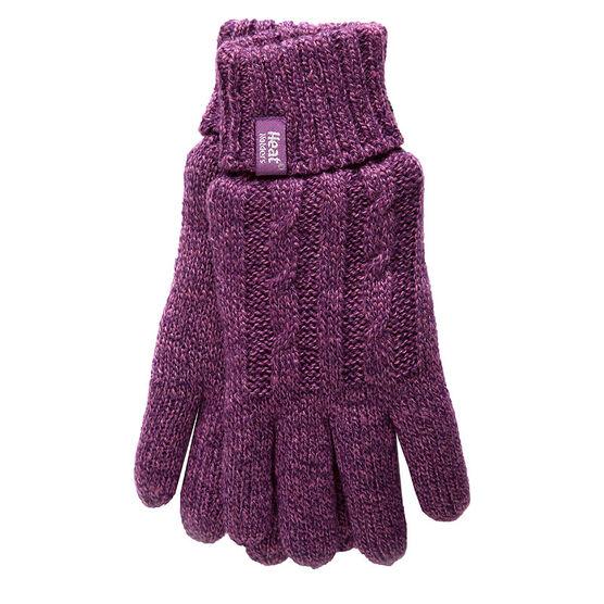 Heat Holders Ladies Knit Gloves - Purple - Large