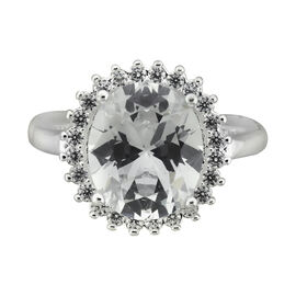 Puccini Cubic Zirconia Round Large Centre Ring - Size 7
