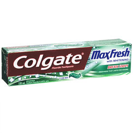 Colgate MaxFresh with Whitening Breath Strips Toothpaste - Clean Mint - 120ml