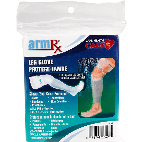 ArmRX Leg Glove Shower Bath Cover