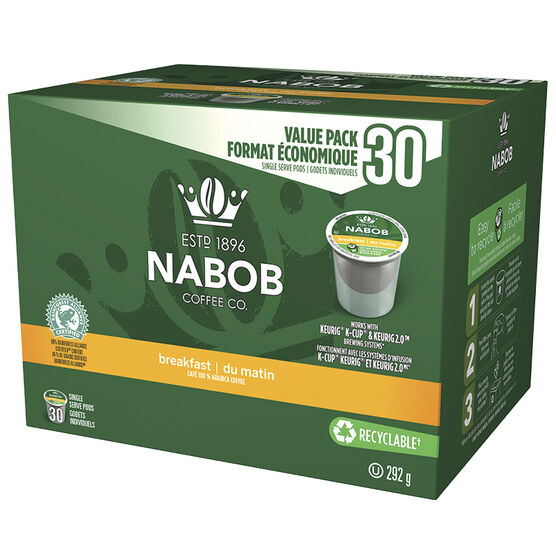 Nabob Coffee Pods - Breakfast Blend - 30 pack