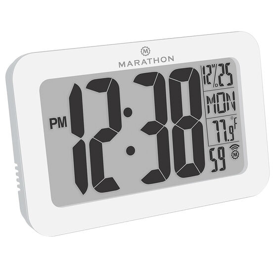 Marathon Atomic Panoramic Clock - CL030033WH
