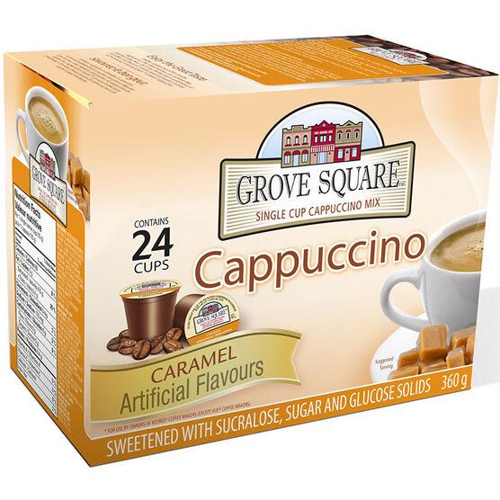 Grove Square Cappuccino - Caramel - 24 pack