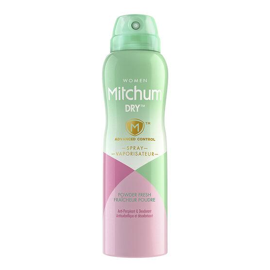 Mitchum Women Dry Spray Anti-Perspirant - Powder Fresh - 113g