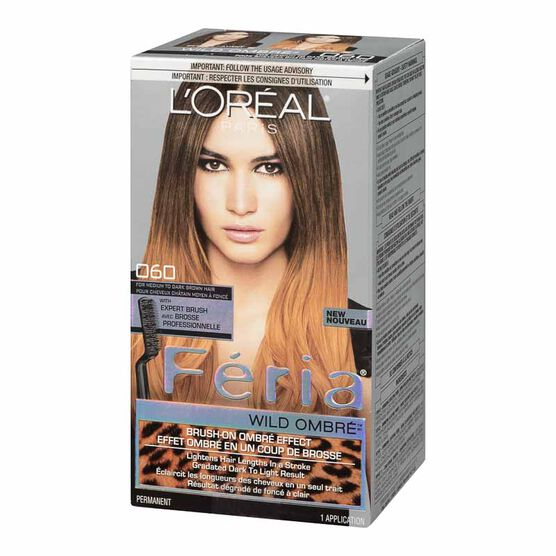 L'Oreal Feria Wild Ombre Permanent Hair Colour - 060 For Medium to Dark Brown Hair