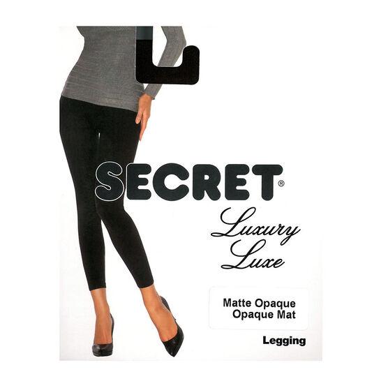 Secret Luxury Matte Legging - D - Black