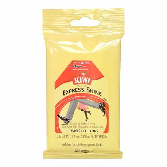 Kiwi Express Clean & Shine Wipes - 15's