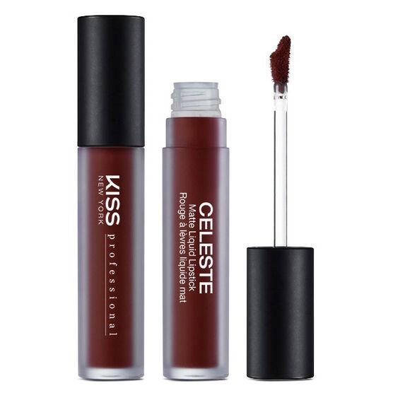 Kiss Pro Celeste Matte Liquid Lipstick - Vampire
