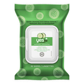Yes To Cucumbers Hypoallergenic Facial Wipes - 30's