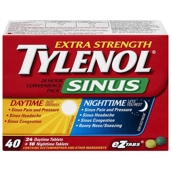 Tylenol Sinus Daytime/Nighttime - 40's