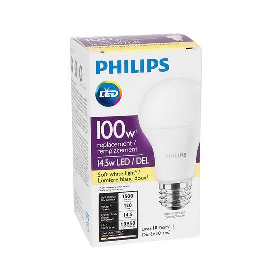Philips LED Light Bulb - Soft White - 14.5/100w