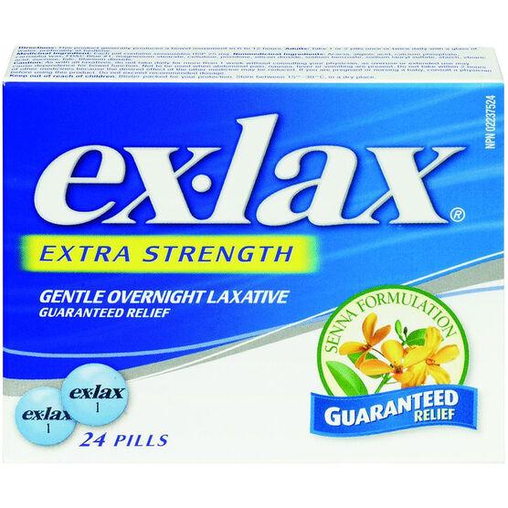 Ex-Lax Extra Strength Laxative Senna Formulation - 24's