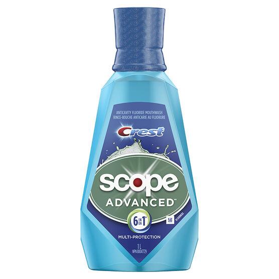 Crest Scope Advanced Anticavity Fluoride Mouthwash -1L