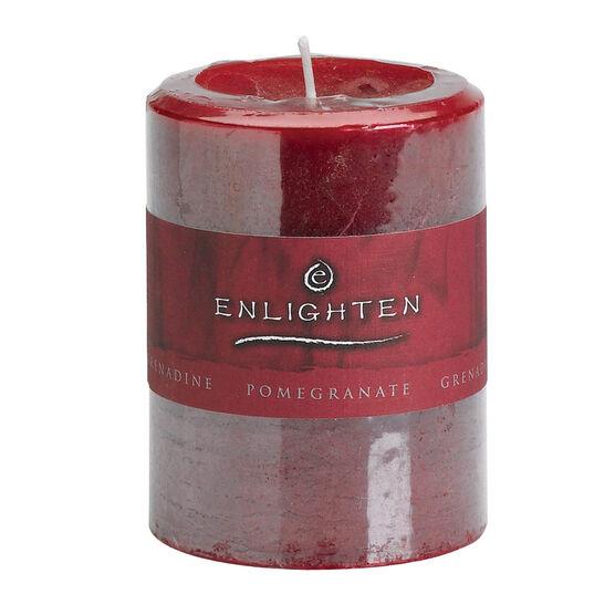 Enlighten Pillar Candle - Pamegranate - 3x4inch