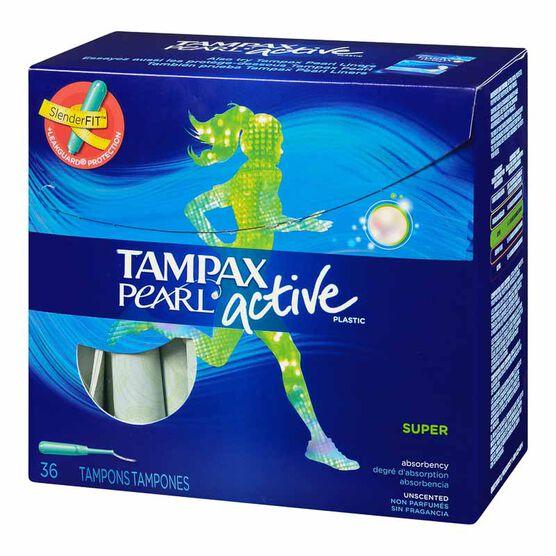 Tampax Pearl Active Super Tampon - 36's