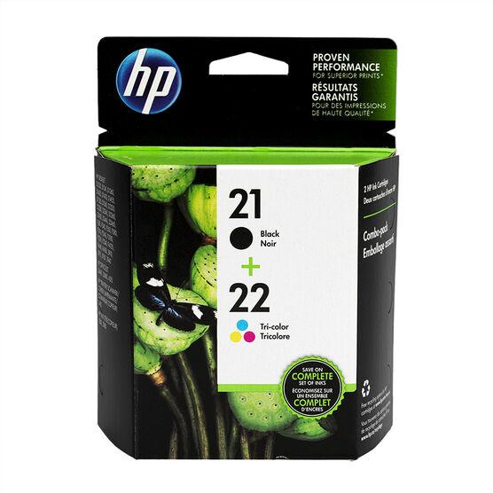 HP 21/22 Combo Pack Ink Cartridge - Black & Tri-Color - C9509FN#140