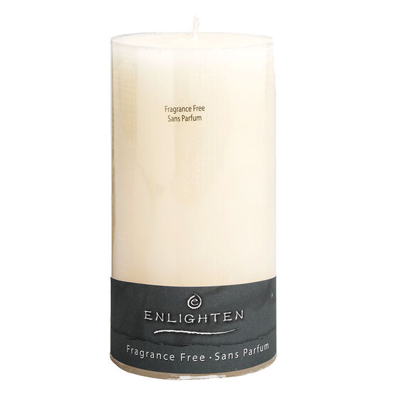 Enlighten Linen Pillar - Ivory - Unscented - 3 x 6